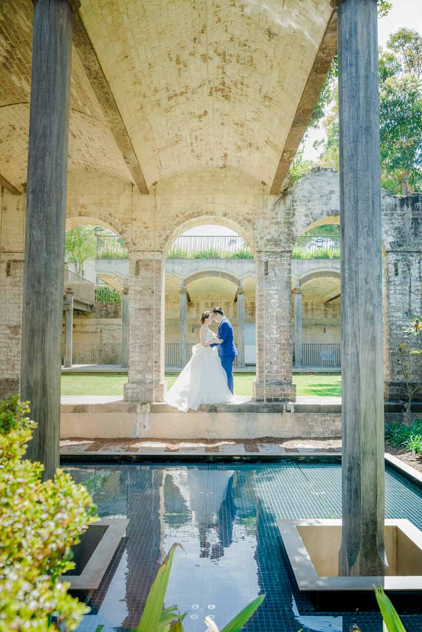 paddington reservoir garden pre-wedding