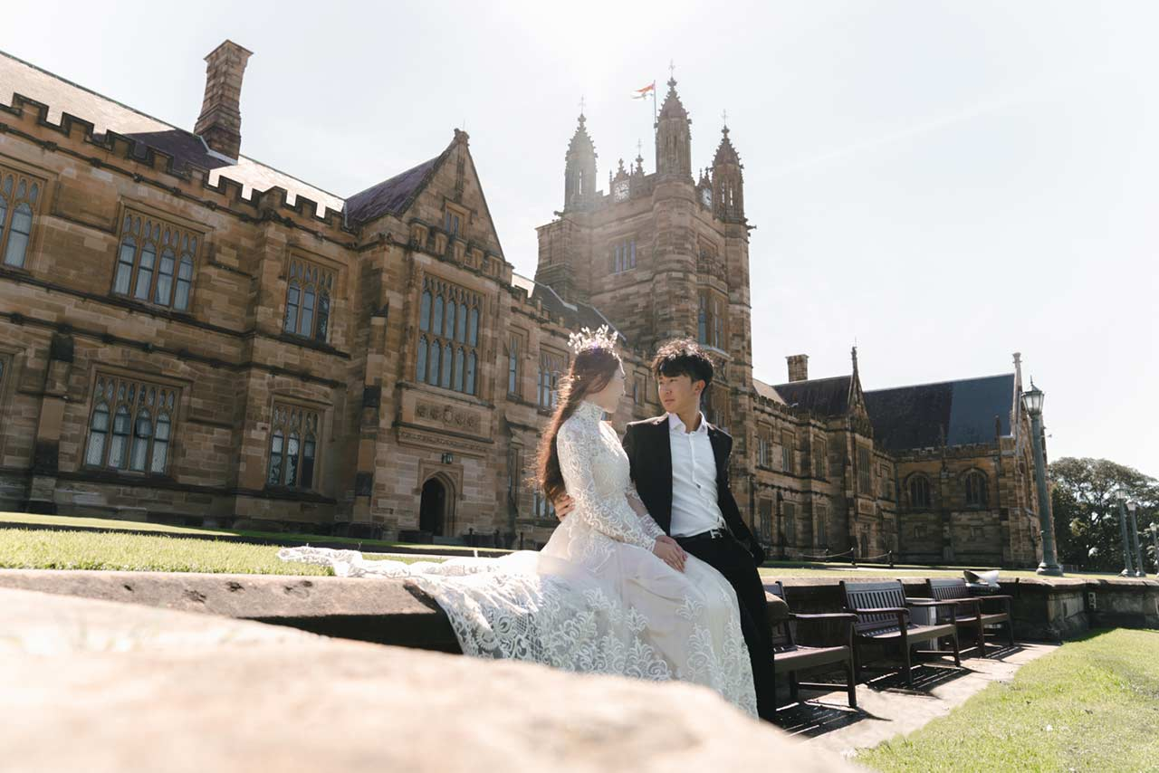 pre-wedding photoshoot USYD - The Lacy Day