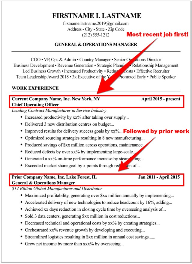 The High Score Resume format: How to write a resume for 11