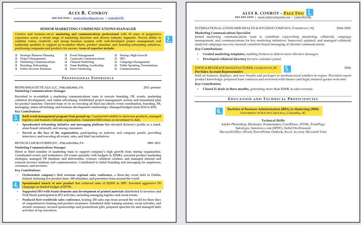 Page Numbers On Resume Example Examples of Resumes