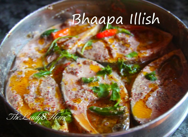 Bhapa Illish  Steamed Hilsa Fish in mustard sauce made