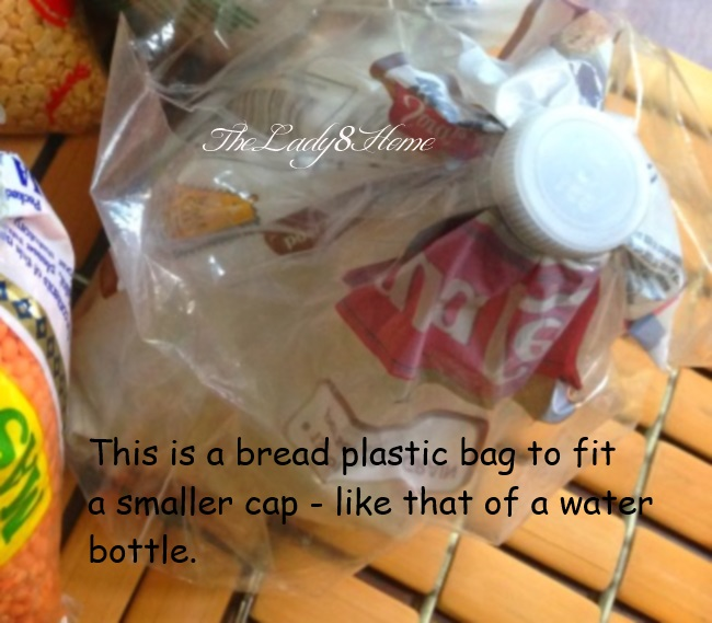 Recycled bottle tops to seal open plastic packets  The