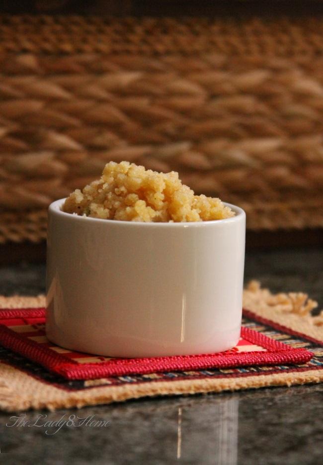 Mohanbhog a traditional semolina pudding and a naughty