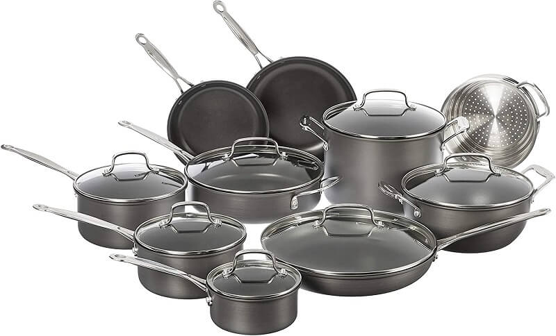 Cuisinart Chef's Hard Anodized 17 Piece Set
