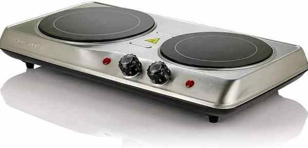 Ovente 1700W Double Hot Plate Electric Countertop Infrared Stove