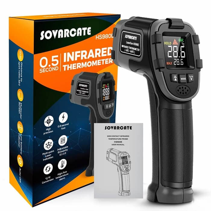 SovarCate Digital IR Thermometer