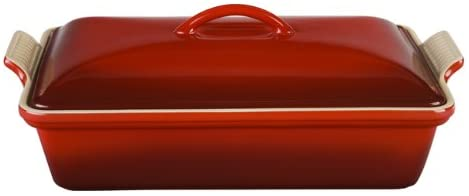 5. Le Creuset Stoneware Heritage Covered Rectangular Casserole