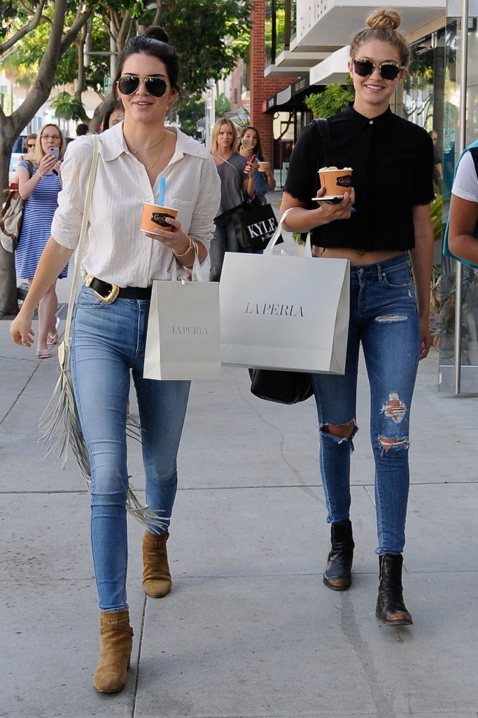 Kendall Jenner and Gigi Hadid, off duty model style.