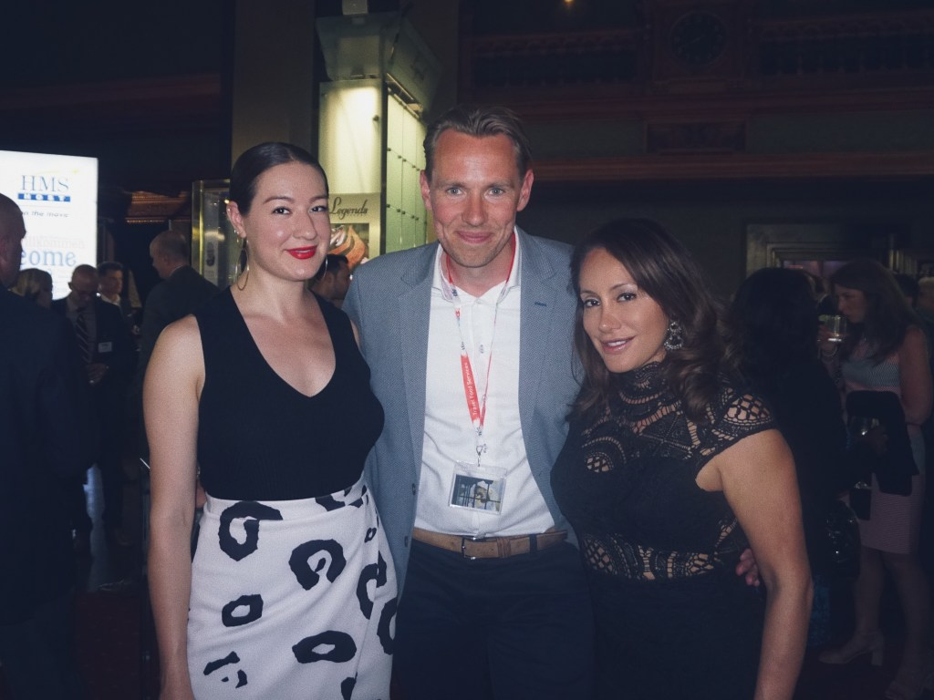 Melina Morry and Cristina Alcivar with the representative from Schiphol at the Airport FAB Awards | Fashion, Travel and Lifestyle Blog The Lady-like Leopard by Melina Morry