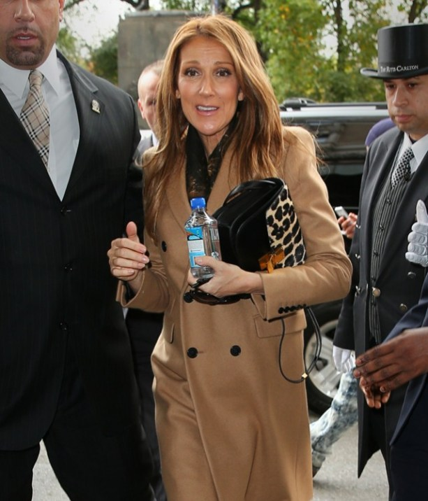 Celine Dion carries a leopard print Celine bag | The Updated Canadian Tuxedo: Canadian Celebs in Leopard Print | The Lady-like Leopard