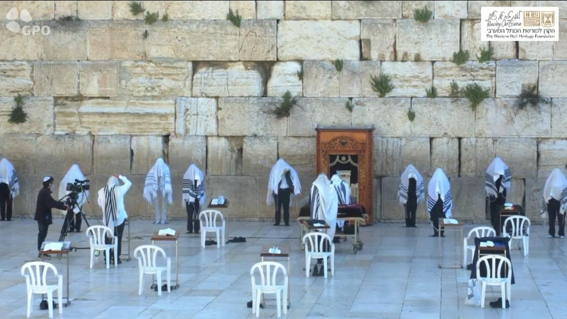 At the Kosel this morning – a day which would normally draw tens of thousands of people 1