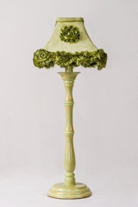 Green Base with lampshade 'n roses