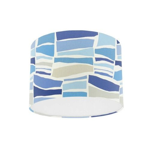 Sanderson Papavera Milla Marine Multi Fabric Drum Lamp Shade