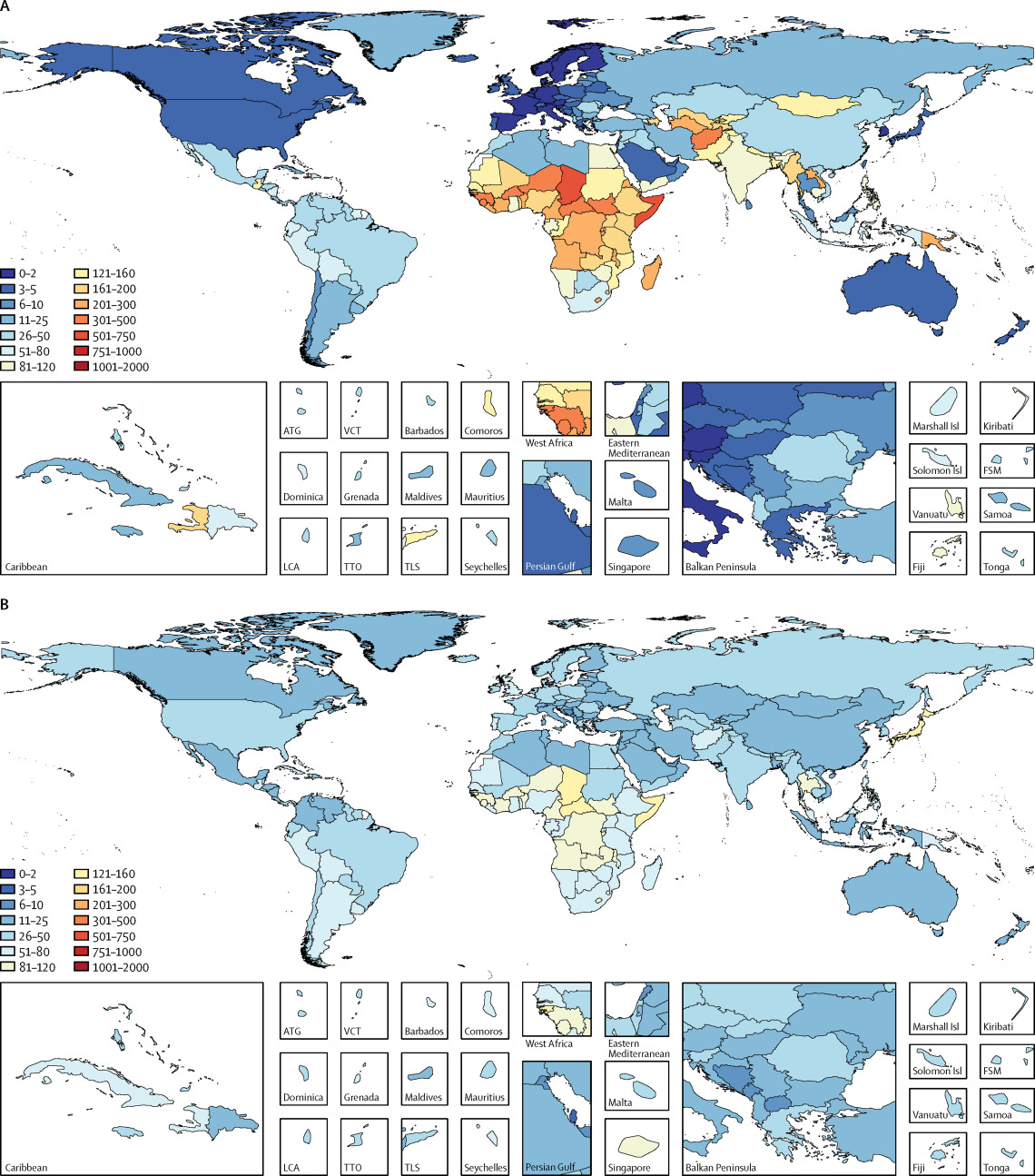Estimates Of The Global Regional And National Morbidity Mortality