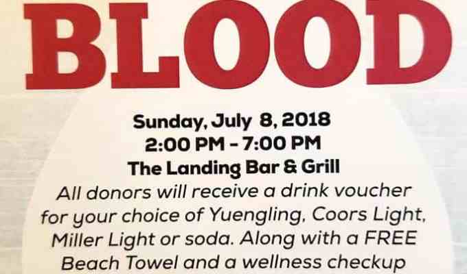 Donate Blood – The Landing Bar & Grill   Valrico FL