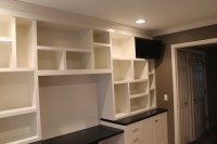 Custom built in office cabinets | Landmark Contractors
