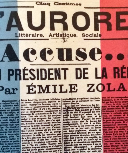 The signature rallying cry of the Dreyfus Affair.