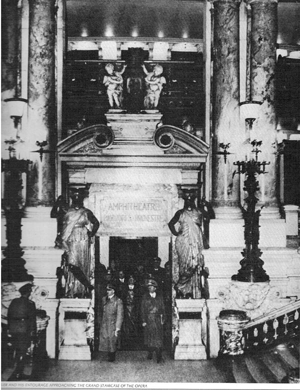 Adolf Hitler at the Opera Garnier, Paris.