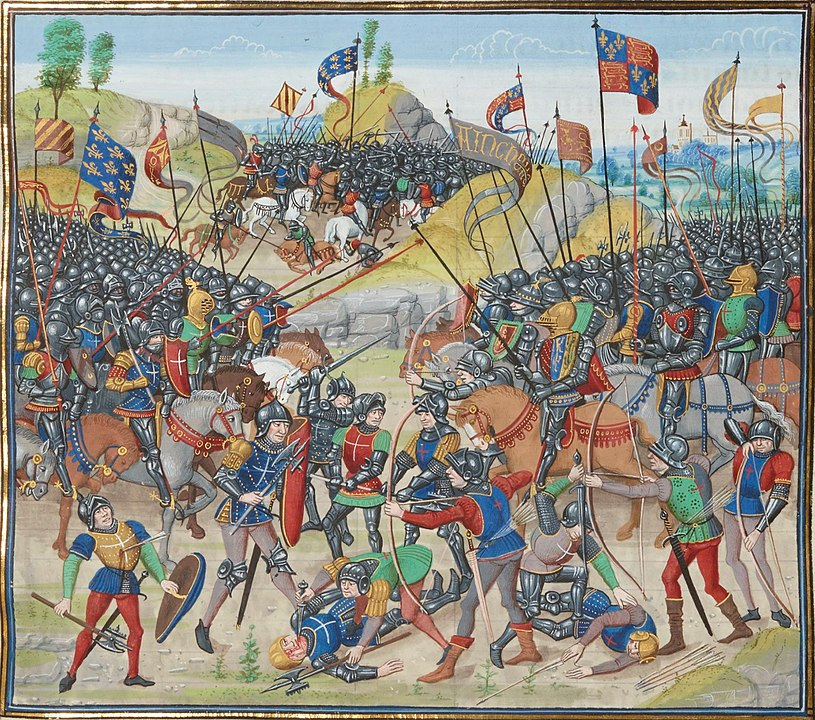Medieval painting of the Battle of Auray