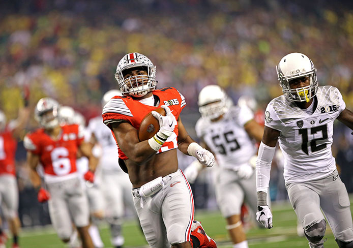 Ohio State Takes 21 10 Lead At Halftime Of The College