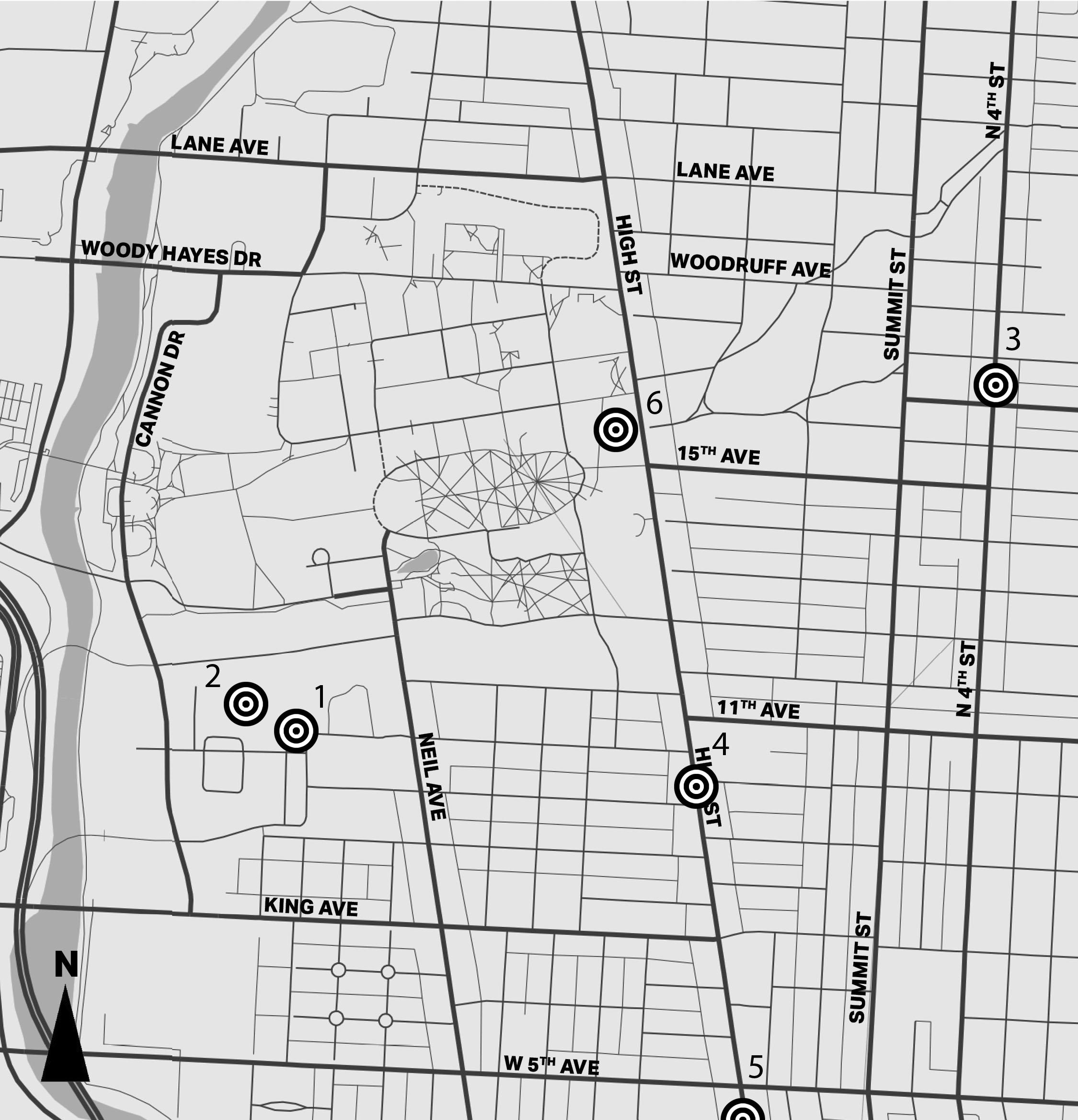 Campus area crime map: Nov. 30