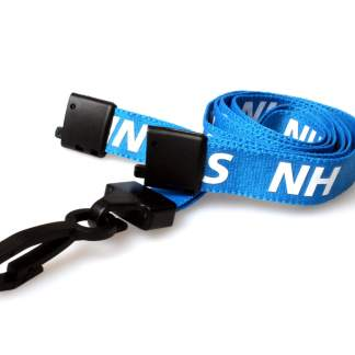 15mm NHS Lanyards with Breakaway and Plastic J Clip