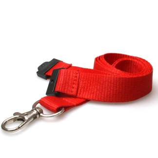 20mm Lanyard with Safety Breakaway & Trigger Clip (Red)