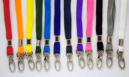 10mm Lanyard with Safety Breakaway & Metal Lobster Clip