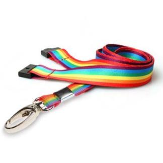 Rainbow / LGBT 15mm Lanyard