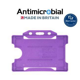 Antimicrobial Purple Rigid Plastic ID Holder