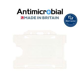 Antimicrobial White Rigid Plastic ID Holder