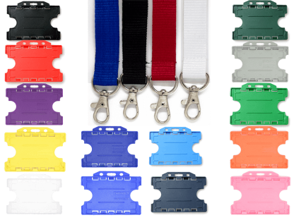 20mm Lanyard with Double Sided ID Holder