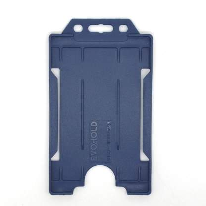 Sided Rigid Plastic ID Holder (Vertical / Portrait) (Dark Blue)