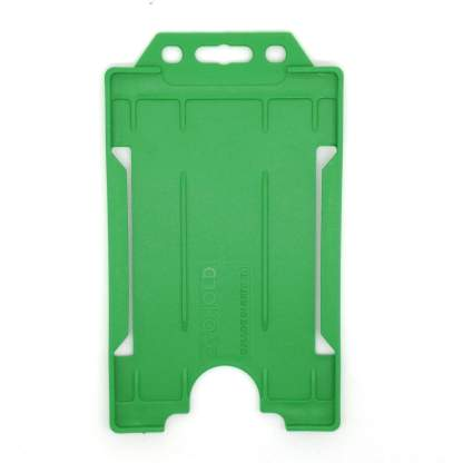 Sided Rigid Plastic ID Holder (Vertical / Portrait) (Light Green)