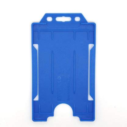 Sided Rigid Plastic ID Holder (Vertical / Portrait) (Royal Blue)