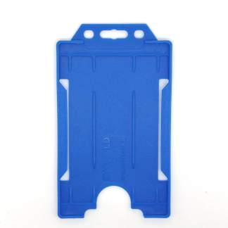 Sided Rigid Plastic ID Holder (Vertical / Portrait) (Royal Blue)