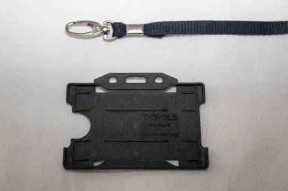 Black 10mm Lanyard with Single Sided Card Holder