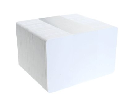 Blank White Plastic ID Cards (PVC, 760 Microns)