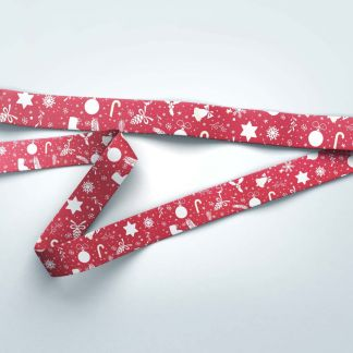 20mm Christmas Lanyard with Trigger Clip & Safety Breakaway