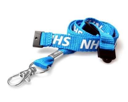 15mm NHS Staff Lanyard with Double Breakaway
