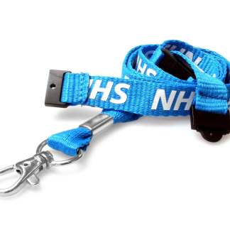 15mm NHS Staff Lanyard with Double Breakaway