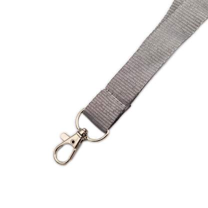 20mm Lanyard with Safety Breakaway & Trigger Clip (Grey)