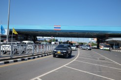 At the Lao-Thailand border