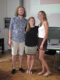 Team II: Johannes with Isabella, Jana (missing: Jule)