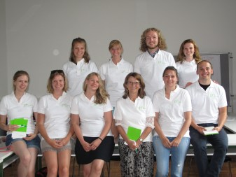 Top: Sara, Pauline, Johannes, Anika; Below: Kerstin, Juliana, Silja, Prof. Martin, Denise, David; Missing: Thorsten, Lena, Julia