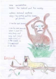 The leopard and the monkey by Richard Northcott