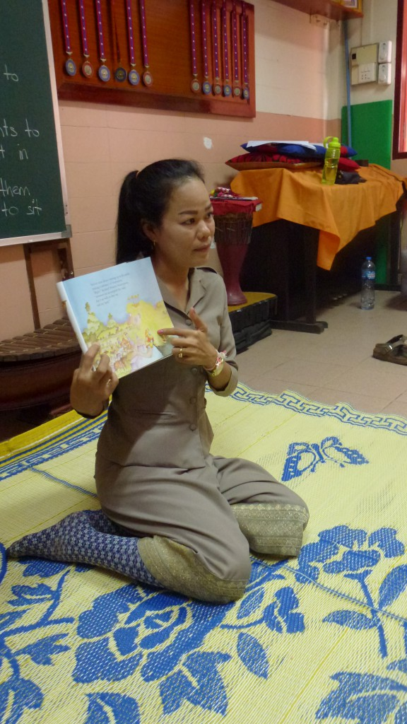 """Phovang """"Noy"""" reads """"Princess Smartypants"""" by Babette Cole"""