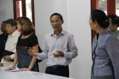 Mr Khamsing explains the foundation's interest in the natural sciences