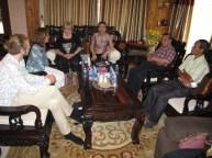 ... conducting informal talks (Johannes Zeck, Prof. Dr. Isabel Martin, Mme Gerlinde Engel, Mrs Sengdeuane Lachanthaboune, Mr Sivath Sonethavy, Mr Khamsing Nanthavongdoungsy)