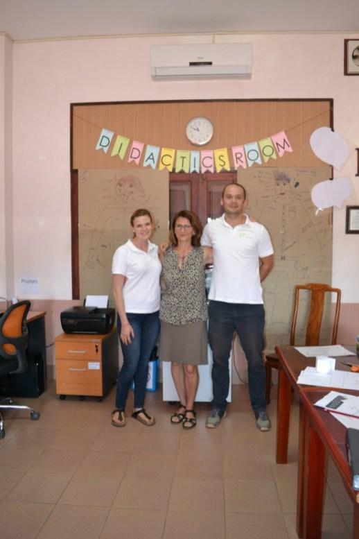 Prof. Isabel Martin and her volunteers